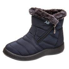 2020 Mới Tuyết Boot Nữ Cổ Chân Ngắn Giày Mùa Đông Chống Thấm Nước Giày Dép Ấm Giày Bootie Nữ Ngoài Trời Bằng Giản Giày(China)