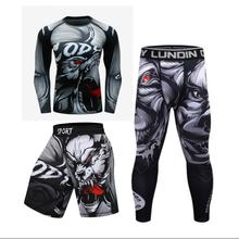 Treino de boxe salão de treino masculino treino de boxe, mma secagem rápida magro masculino muay thai combate desportivo 3d impresso ru(China)