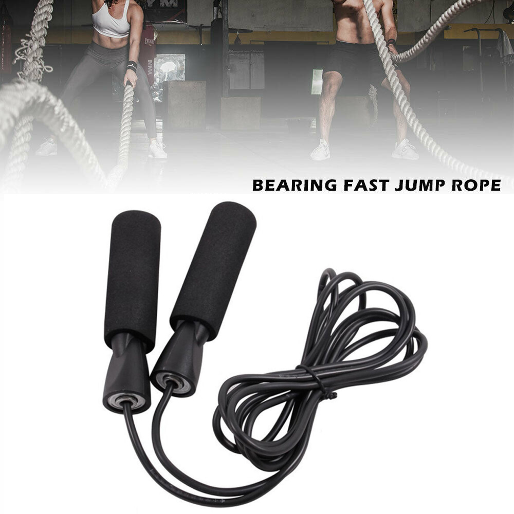 Wire Skipping Adjustable Jump Rope Speed Fitness Sport Gym Aerobic Exercise NEW