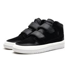 Man Herfst en winter high-top schoenen casual laarzen mannen schoenen tij schoenen hoge sneaker zwart schoenen rubber schoenen(China)