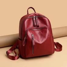 Mochila de viagem feminina de couro do plutônio anti-roubo portátil mochila escolar bagpack para meninas adolescentes bolsa de ombro feminina mujer(China)