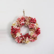 Имитация гортензии венок украшение настенный цветок украшение венок свадьба Рождество Отделка стен и дверей(Китай)