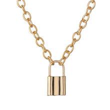 LETAPI الشرير المعادن القلب المختنق قلادة للنساء سلسلة سميكة كبيرة مستديرة الجوف متعدد الطبقات قلادة طويلة القلائد مجوهرات(China)