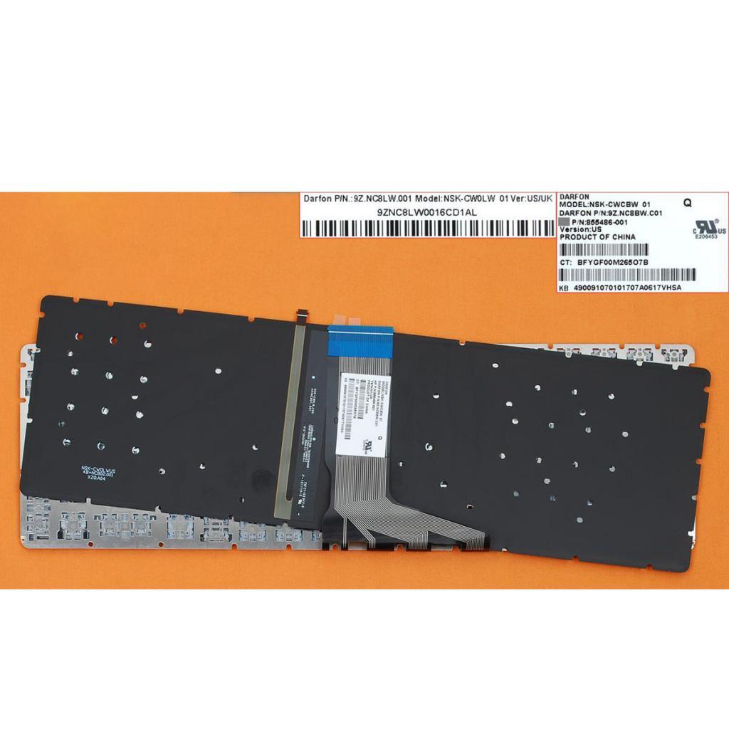 Replacement US English Layout Laptop PC Keyboard with Backlit For HP Envy M6-W M6-W000 M6-W100 X360 High Quality