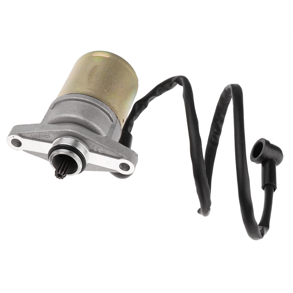 Motorcycle Moped Scooter  ATVs Go Carts Starter Motor for 10 Teeth GY6 47cc 49cc 50cc 60cc 72cc 139QMB GY6 Engine