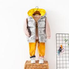 OLEKID Sonbahar Kış Çocuk Yelek Kapşonlu Su Geçirmez Yelek Erkekler Için 2-7 Yıl Kız Bebek Erkek Yelek Çocuk Kız yelek Giyim Ceket(China)