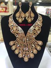 דובאי זהב תכשיטי נשים אופנה שרשרת סטי נשים שרשרת 24k זהב חדש עיצוב שרשרת(China)