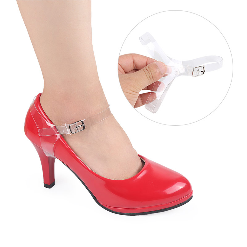 1 Pair Anti-slip Invisible Shoe Straps Ddetachable Adjustable Length Shoelaces for Loose High Heel Ballrom Wedding Pump Shoes