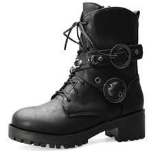 2020 büyük boy 43 DROPSHIP serin kemer tokaları sokak kadın ayakkabı yarım çizmeler kadın botları MARTIN kadın ayakkabısı(China)