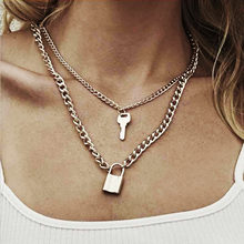 FAMSHIN Bohemian Multi layer Pendant Necklaces For Women Fashion Golden Geometric Charm Chains Necklace Wholesale Jewelry New(China)