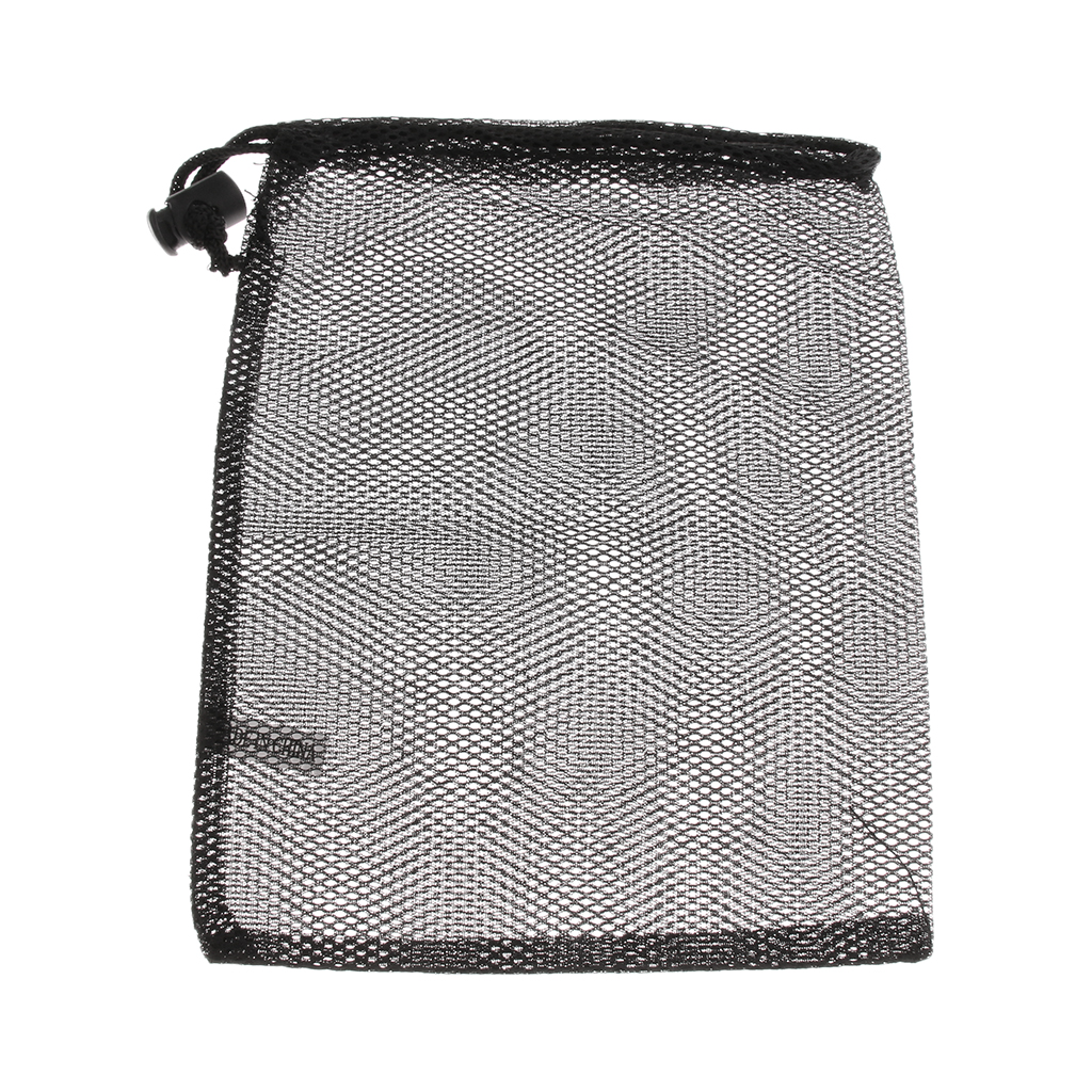 Camping Mesh Sack for Tea Cups and Plates Storage Set - Outdoor Tableware Holder Organizer Carrier with Drawstring Closure