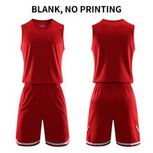 DIY Men basketball jersey College Basketball Uniforms Team Basketball Suit Adults Sets Quick Dry Sleeveless sport jerseys(China)