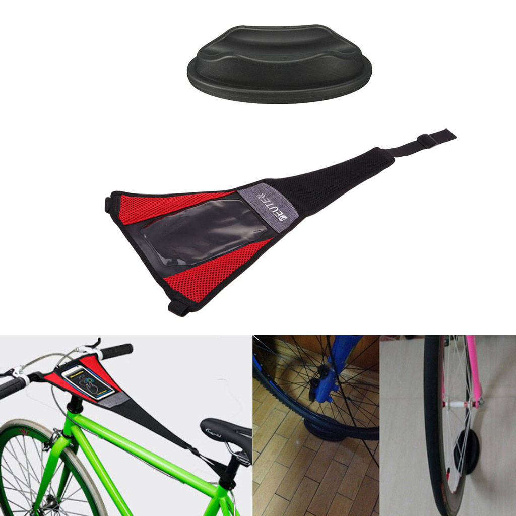 Indoor  Trainer Rollers Sweat Cover Frame Guard Strap Wheel Riser