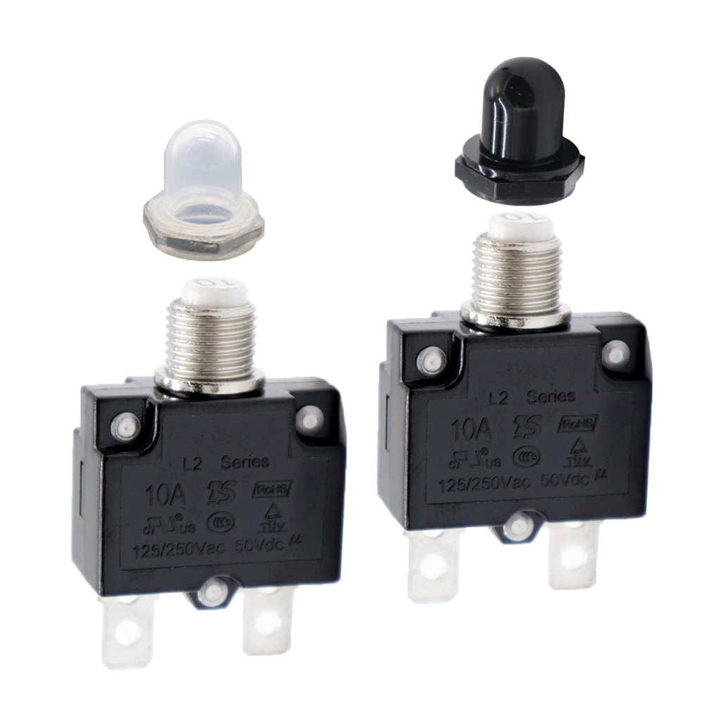 2PCS 10A Circuit Breaker Overload Protector Switch Fuse Reset AC 125/250V