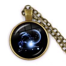 Constellation รูปแบบจี้ 12 Constellation สร้อยคอ LEO Virgo ราศีตุลย์ราศีพิจิกราศีธนู Capricorn Aquarius ราศีมีนเครื่องประดับ(China)