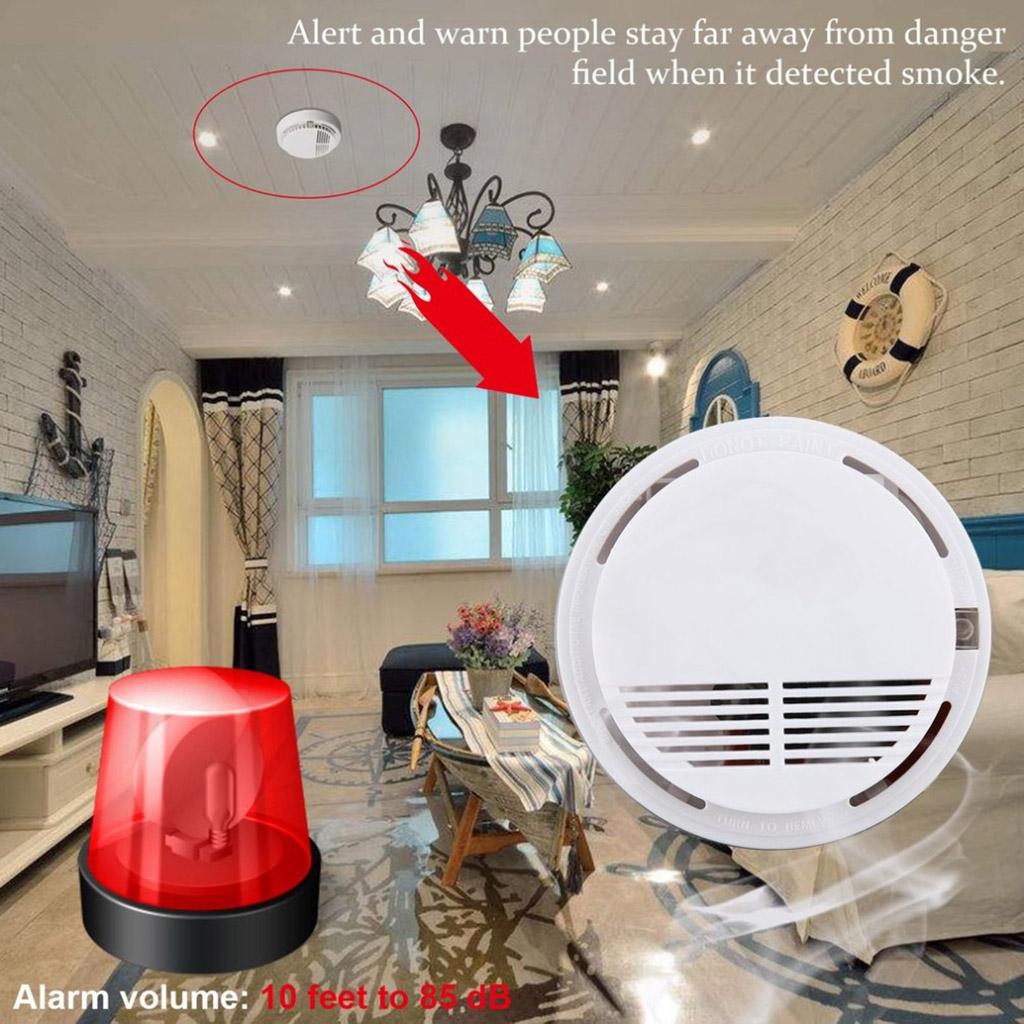 CO Carbon&Monoxide Smoke Detector Fire Smoke Alarm Gas Warning Voice Warning