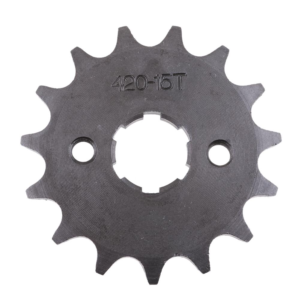 15T 15 Teeth 20mm Front Sprocket For 420 Chain 110CC 125CC 140CC Dirt Pit Trail Bike ATV Quad