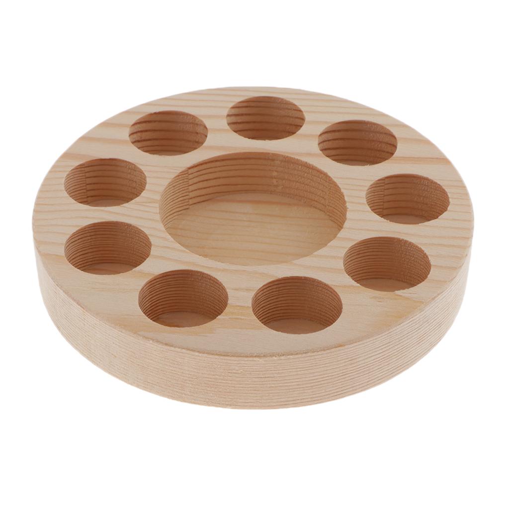 10 Slots Wood Essential Oils Holder Stand Rack Display Shelf Wooden Storage Case Box Holder Essential Oil Organizer