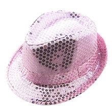 ARLONEET เลื่อม Fedora หมวกเด็กเด็กชายหญิง Unisex หมวกแจ๊สหมวกหมวก Trilby หมวก Cap Performance Carnival หมวกวันเกิด PARTY(China)