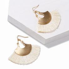 Handmade Bohemian Tassel Earrings 2019 Antique Geometric Vintage Boho Ethnic Accessories Long Drop Earrings For Women Jewelry(China)