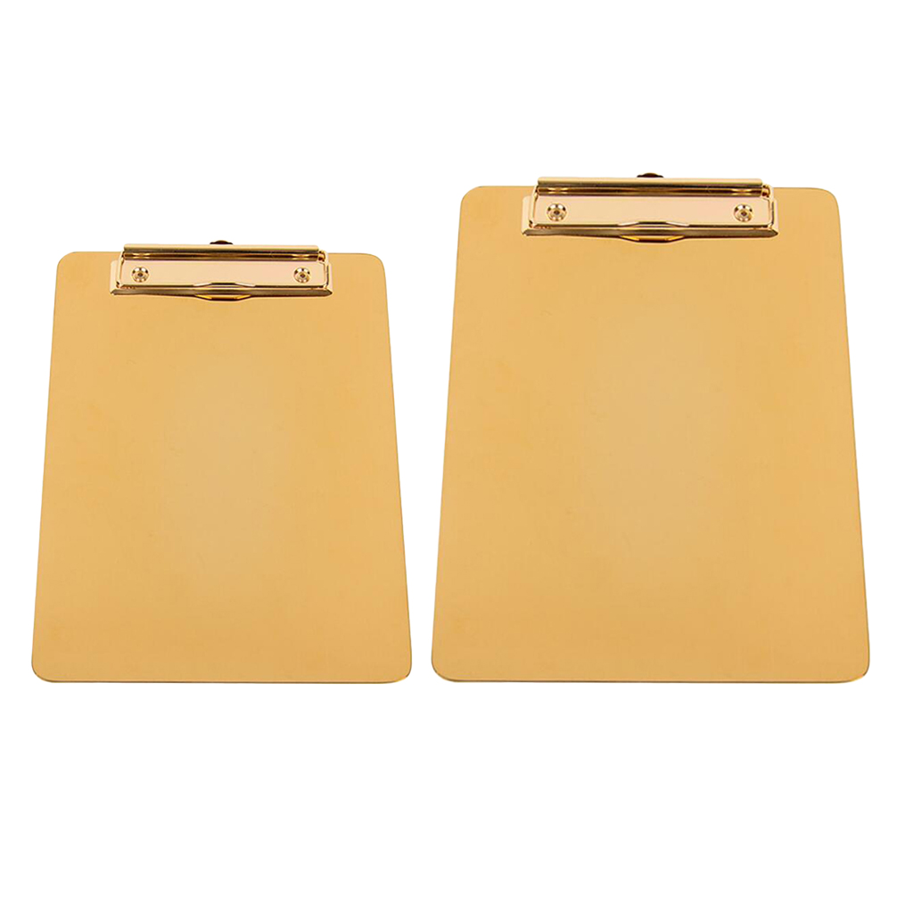 Clipboard Heavy Duty Stainless Steel Letter Size Low Profile Clip
