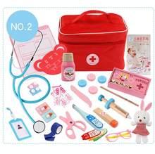 60 Buah/Set Anak-anak Mainan Kayu Berpura-pura Bermain Dokter Set Perawat Injection Kit Medis Peran Bermain Klasik Mainan Simulasi Dokter Mainan(China)