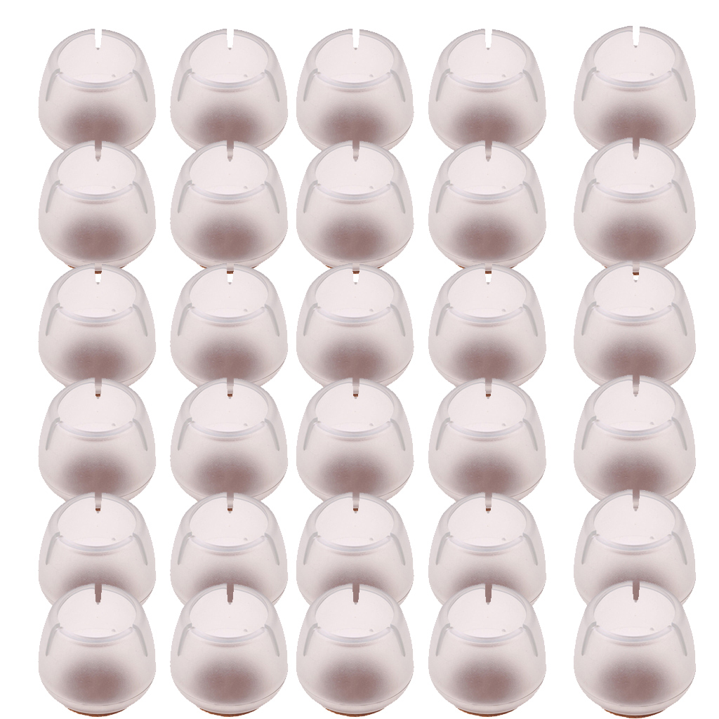 30 Pieces Fit 12-16mm Silicone Chair Leg Caps Feet Pads Furniture Table Covers Socks Floor Protectors Round Bottom Non-Slip Cups