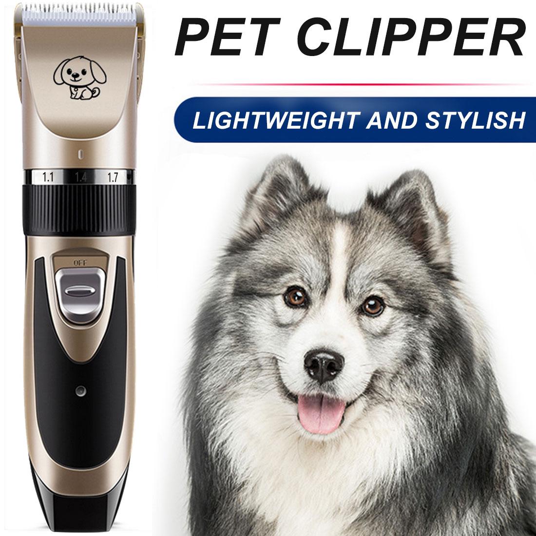 Cortapelos para Perros Clippers perro Peluquer/ía Canina Profesional Clippers sin cable de bajo ruido sin cable Clippers perro de mascota Trimmer preparaci/ón del perro Clippers Kit for abrigos perros