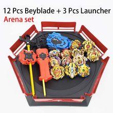 Semua Model Beyblade Burst Mainan dengan Starter dan Arena Bayblade Logam Fusion Allah Spinning Top Bey Blade Pisau Mainan(China)