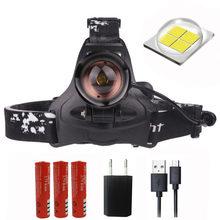 Z90S2806 reflektor LED mocna dioda CREE XLamp XHP70 soczewka powiększająca reflektorów 18650 akumulator głowy latarka latarka(China)