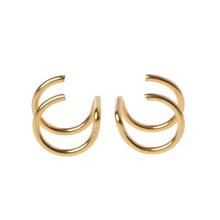 Titanio 2 anillos oreja gemelos Clips en cartílago de hélice anillo sin Piercing joyería del cuerpo(China)
