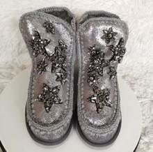 Kim Cương Giả Len Mùa Đông Ủng Nữ Bộ Lông Mùa Đông Giày Ấm Giày Nữ Mùa Đông Ngắn Giày(China)