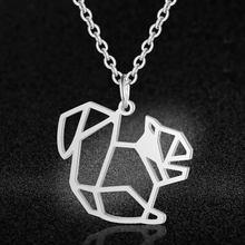 Unikalne biżuteria dla zwierząt naszyjniki dla kobiet 100% ze stali nierdzewnej Super moda kot pies Panda małpa wisiorek naszyjnik specjalny prezent(China)