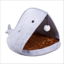 Sevimli hayvan yatak kediler için yavru köpek evi yatak tasarımcısı köpekbalığı balina çanta kedi yatakları tavşanlar için Hamster kedi evcil hayvan evi kedi için(China)
