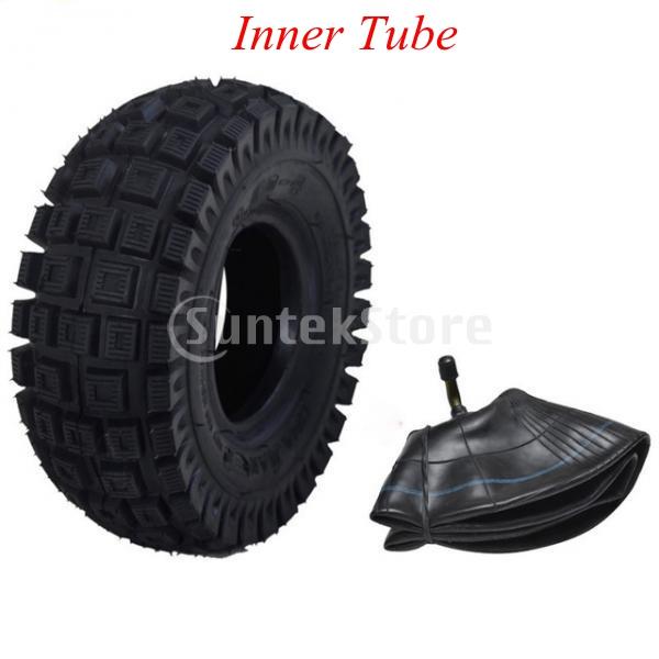 4.10/3.50-4-inch Tire Inner Tube with Heavy Duty Metal Bent Valve Stem For ATV 4 Wheelers Go Kart Quad Pocket Bike 47 49cc