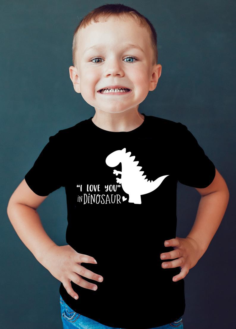 Valentines Day Dinosaur Love Heart Gift Cute Toddler Kids Sweatshirt