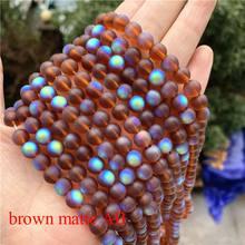 50 sztuk 8mm Metal kolor AB kolor okrągły akrylowy koralik luźne koraliki modułowe do tworzenia biżuterii bransoletka Zrób To Sam(China)