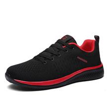 2019 Unisex los hombres zapatos transpirables zapatos de malla ligero cómodo zapatos casuales zapatos de los hombres de Zapatillas de deporte de gran tamaño Zapatillas Hombre(China)