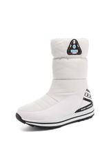 Asumer Size 31-43 Nữ Mới 2020 Ủng Nền Tảng Giày Bé Gái Cổ Chân Giày Ấm Xuống Nữ Mùa Đông giày Vải Cotton N(China)