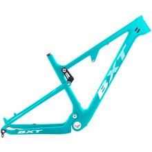 Cadre de vélo de Suspension de montagne BXT 29er S/M/L/XL vélo conique cadre de Suspension complet partie de vélo cadre de choc vtt avec casque(China)