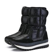 Frauen winter stiefel plattform nicht-slip wasserdichte winter schuhe frauen stiefeletten dicke fell warme frauen schnee stiefel für -40 grad(China)