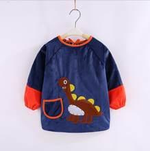 2019 Baberos de algodón para bebé delantal de alimentación impermeable nuevo terciopelo de cristal Otoño Invierno bebé niña ropa de dibujos animados baberos bandana(China)