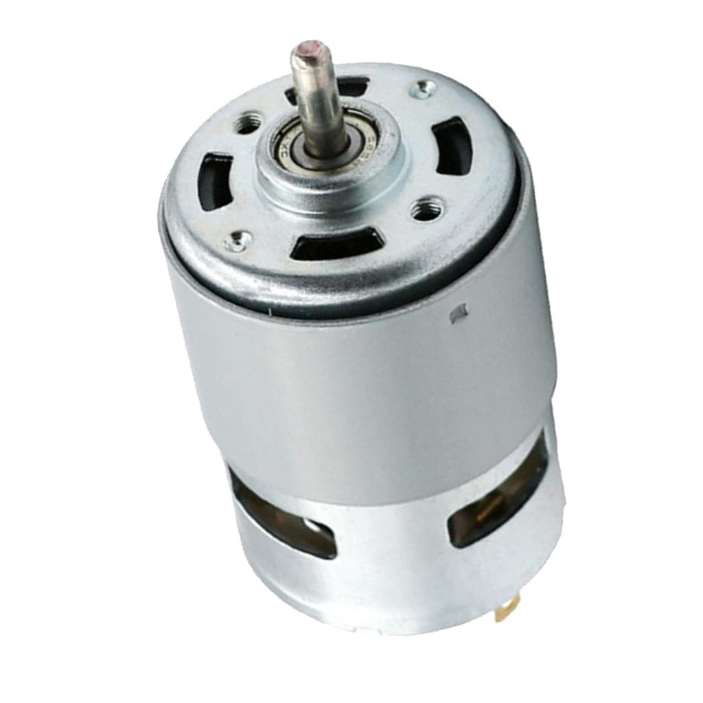 5mm Singal Ball Bearing Shaft Motor 775 DC 12V 100W 12000RPM For Universal