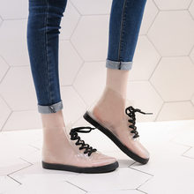 Su geçirmez Kış Ayakkabı Kadın yarım çizmeler Kadın Kışlık Botlar Bota Kadın Patik Şeffaf yağmur çizmeleri Kadın Çizmeler Botas Mujer(China)