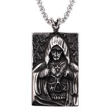 Biżuteria Hiphop szkielet meksykańska czaszka głowa naszyjnik rozlew krwi śmierć Evi oczy anioł duży długi łańcuch męskie naszyjniki kolye erkek(China)