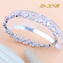 สีชมพู Zirconia ชุดเจ้าสาวชุดเครื่องประดับ 925 เงินสเตอร์ลิงสตรีงานแต่งงานต่างหูสร้อยข้อมือแหวน...(Hong Kong,China)