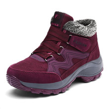 STQ 2019 Mùa Đông Nữ Ủng Nữ Ấm Áp Đẩy Mắt Cá Chân Giày Bốt Nữ Cao Gót Chống Thấm Nước Giày Cao Su Đi Bộ Đường Dài Giày Boots 6139(China)