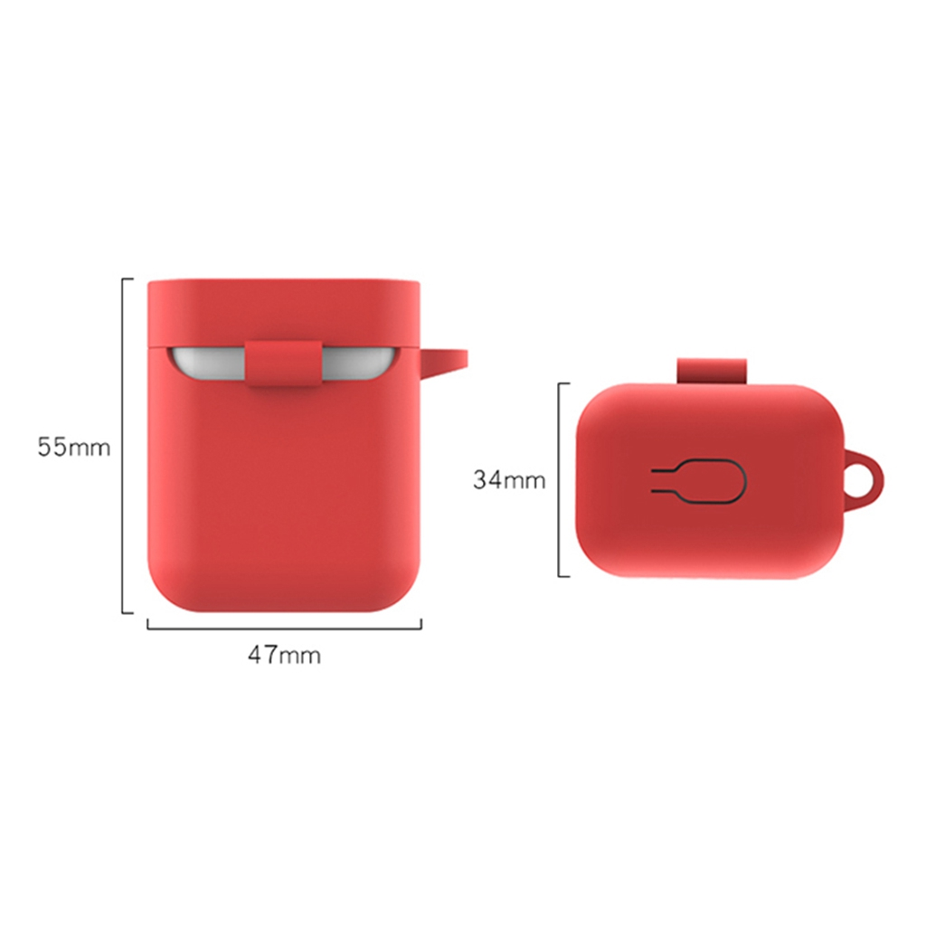 2019 Silicone Protective Case Cover Skin for Xiaomi AirDots Mi Air Charging Box Bluetooth Wireless Headset EarPhone Shockproof
