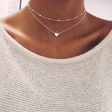 Vintage multicouche cristal pendentif collier femmes couleur or perles lune étoile corne croissant tour de cou colliers bijoux nouveau(China)