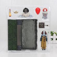 Neca 18cm horro stephen king it s it pennywise palhaço bjd figura de ação brinquedos bonecas cosplay dia das bruxas presente de natal(China)